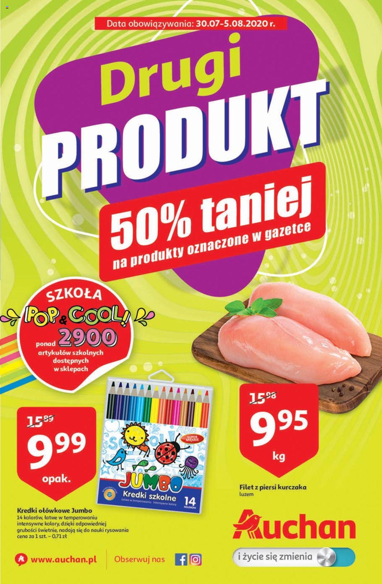 Auchan Hipermarkety Gazetka ważna od 30.07 do 05.08.2020