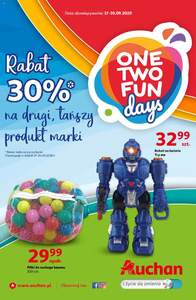 Auchan One Two fun Hipermarkety gazetka ważna od 17.09.2020 do 30.09.2020