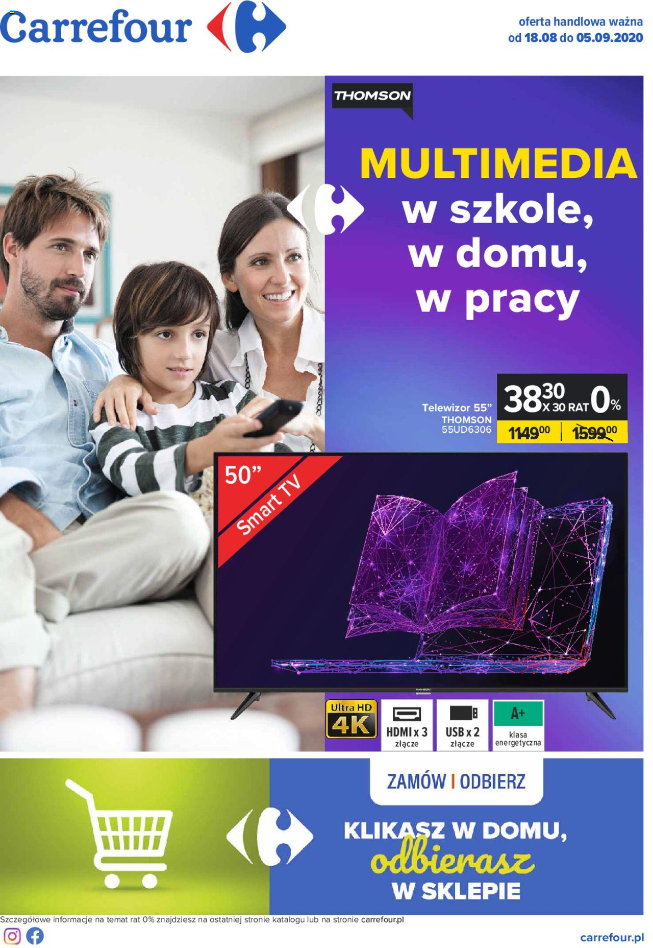 Carrefour Gazetka Multimedia ważna od 18.08.2020 do  05.09.2020