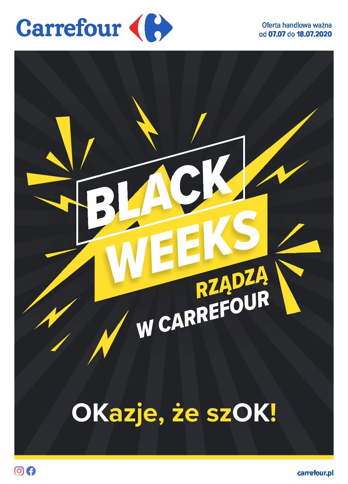Gazetka Carrefour Black Weeks ważna od 7.07 do 18.07.2020